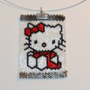 Pendentif Hello Kitty en tissage peyote